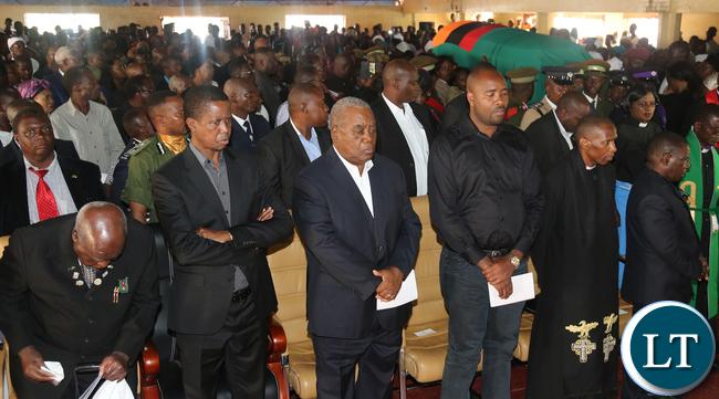 President Edgar Lungu , Dr Kaunda and Mr Rupiah Banda Mourns Mrs Kapwepwe