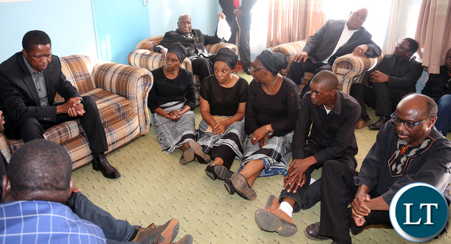 resident Edgar Lungu with Kapwepwe Children
