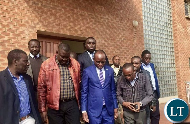 Presidential spokesperson Amos Chanda after a Court  Appearance