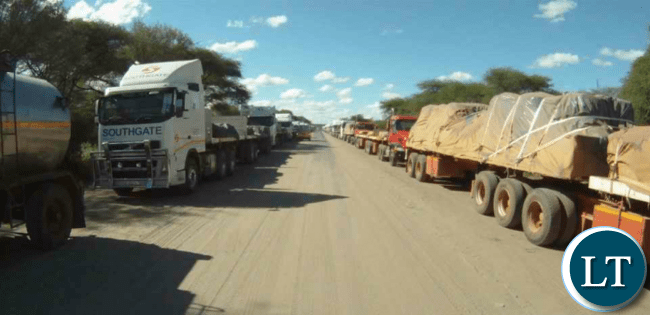 Namibian registered Trucks that were held in Zambia