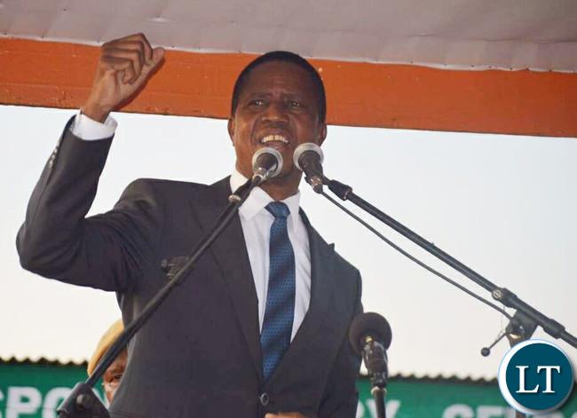 President Edgar Chagwa Lungu in Dundumwezi