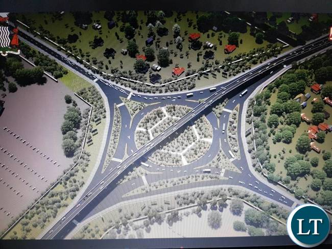 An Artist impression of the Lusaka Decongestion Project (LDP)