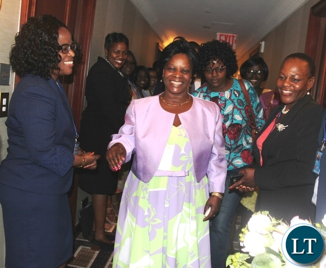 First Lady Esther Lungu arrives at palace hotel
