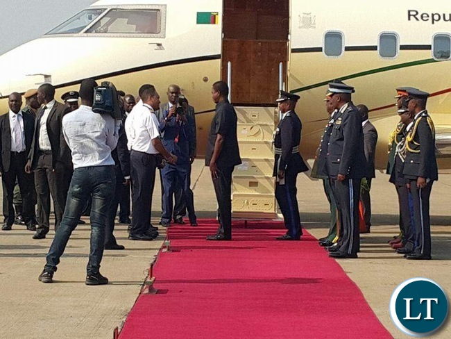 President Lungu Leaving for South Africa this Afternoon