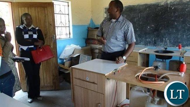 Kanyonyo Secondary School in Kapulanga Community's mobile laboratory