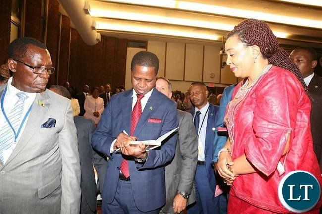 President Edgar Lungu in New York