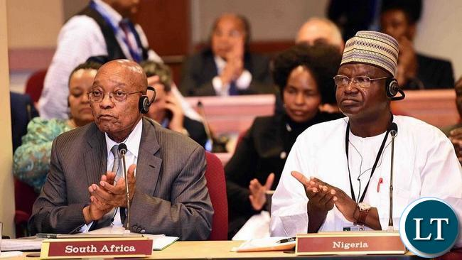 South Africa's Jacob Zuma at the African Heads of State and Government Meeting on Climate Change.