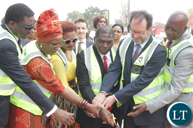 Launch of the program by the senior government officials and the Puma Enegry Foundation Executive Director Vincent Faber