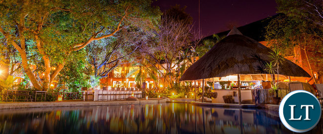 Night View of Kafue River Cliff Hotel-Pictures courtesy of aha.co.za