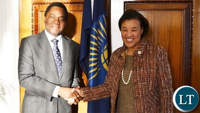 HH meets Commonwealth Secretary General Baroness Patricia Scotland