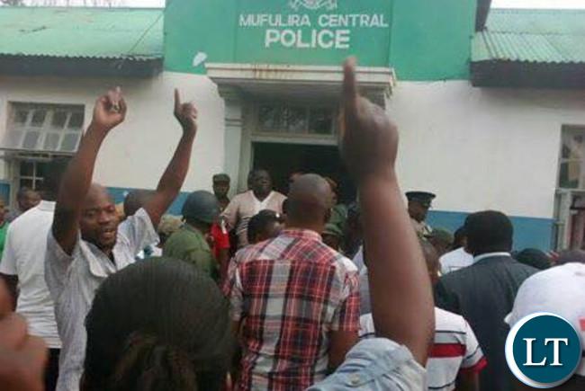 Mr. Kambwili at Mufulira Police Station
