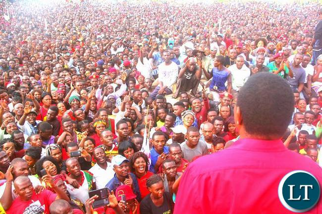 HH addressing supporters in Solwezi