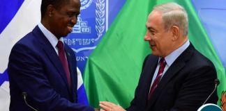 Israel Prime minister Benjamin Netanyahu and President of Zambia Edgar Lungu. (photo credit-Israeli Government Press Office)