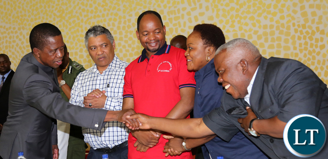 President Lungu Greet Freedom Sikazwe