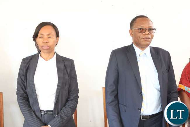 Commerce, Trade and Industry Permanent Secretary Kayula Siame and Mines Permanent Secretary Paul Chanda