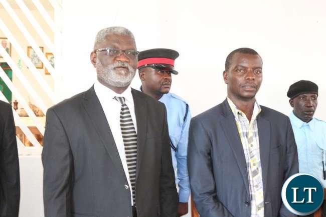 Mr B Kapumpa Council Secretary and Council Chairman Mr B Kalabalala