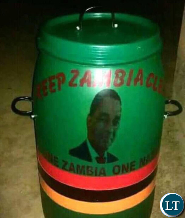 The dustbins allegedly donated by HH and the UPND