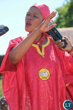 UPND Chairperson for Strategy and Mobilisation Sylvia Masebo