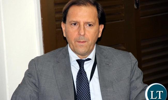 IMF Zambia country representative, Alfredo Baldini