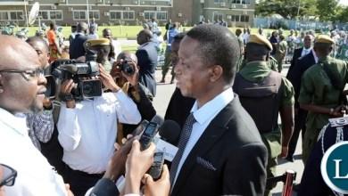 President Lungu speaking to Journalist before leaving for Rwanda