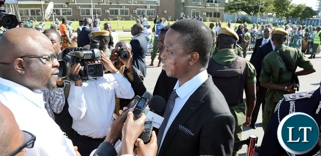President Lungu speaking to Journalist before leaving for Rwanda