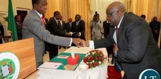 President Lungu swears in Dr Emmanuel Mulenga Pamu as Permanent Secretary - Budget and Economic affairs at Ministry of Finance