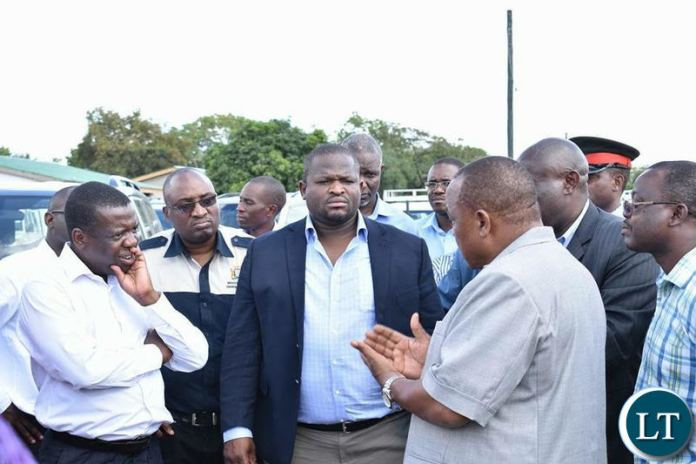 National Planning and Development Minister Alexander Chiteme looks unimpressed with the explanation on why developmental projects have stalled in western province.