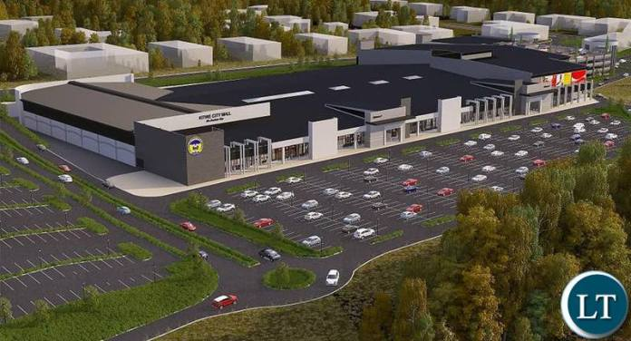 Artistic impression of ECL Mall in Kitwe