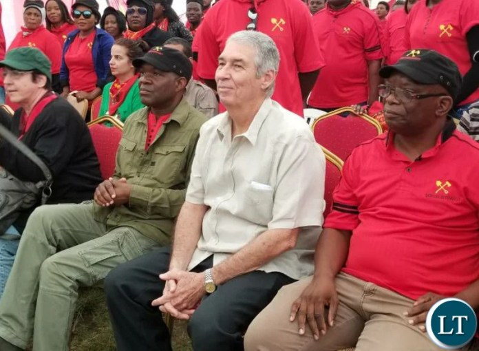 Cuban Ambassador to Zambia, Nelson Pages Vilas, at the launch of Fred M'membe party