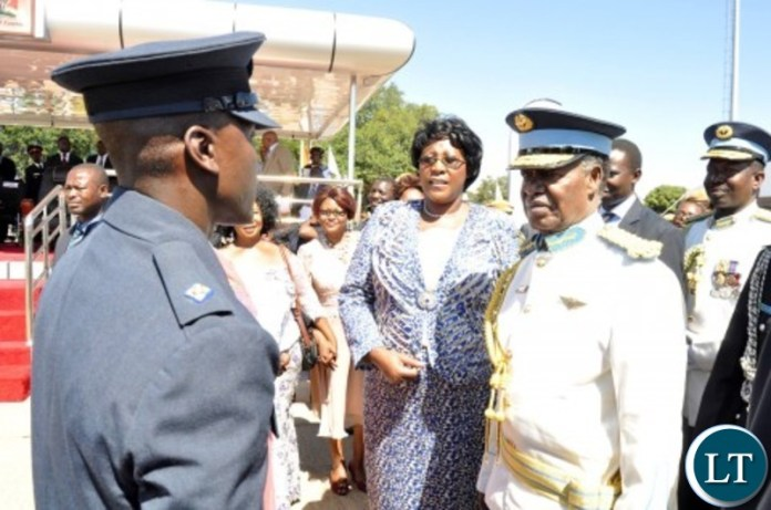 Frederick Chiluba junior after a pass-out parade at Zambia Air Force base in Livingstone in 2014
