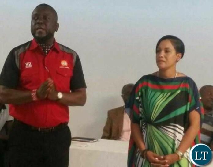 Gary Nkombo with Charmaine Mehl Musonda