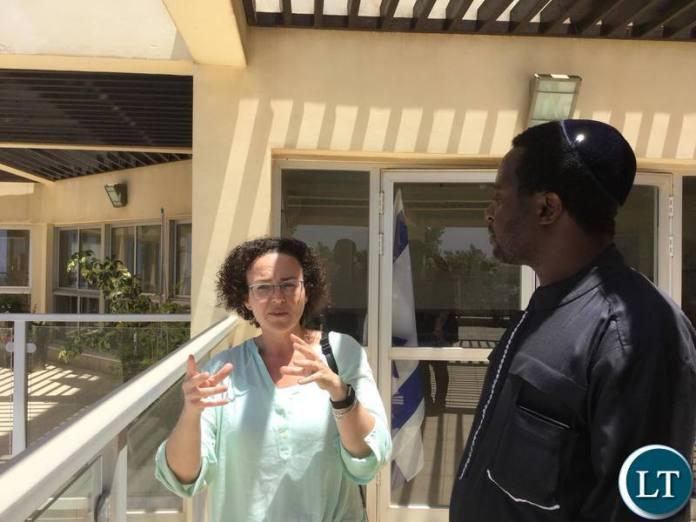 UPP leader Savior Chishimba on a conducted VIP study tour of Ariel University