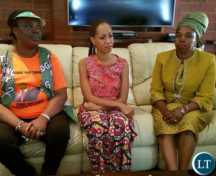 Chilanga Constituency PF Aspiring Candidate Mrs Maria Langa- Phiri with Hon Jean Kapata MP, Minister of Lands and Natural Resources who is the PF Campaign Manager for the Chilanga by election  paid a courtesy call on Mrs Maricoh Mukata, wife to the former Chilanga Member of Parliament Hon Keith Mukata.