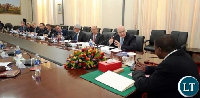 EU diplomats meeting with President Lungu