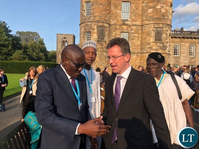 Hon. Charles Banda with Rt Hon Jeremy Wright QC MP. Secretary of State for Digital, Culture, Media and Sport