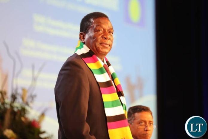 Zimbabwean President Emmerson Mnangagwa at the SADC Summit