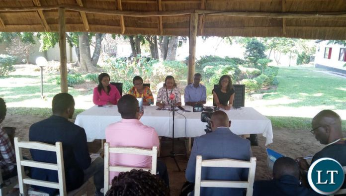 CSO members during the press briefing at Action Aid Offices in Lusaka