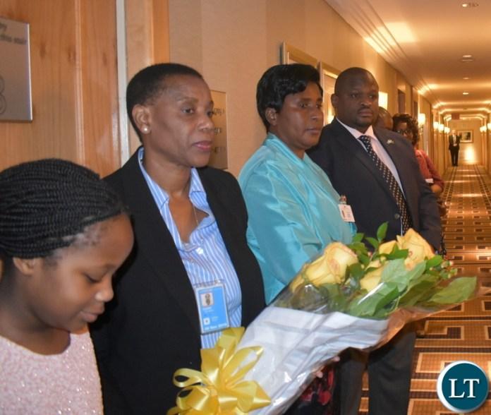 Hon. Alexander Chiteme, Hon. Elizabeth Phiri, Hellen Dobre