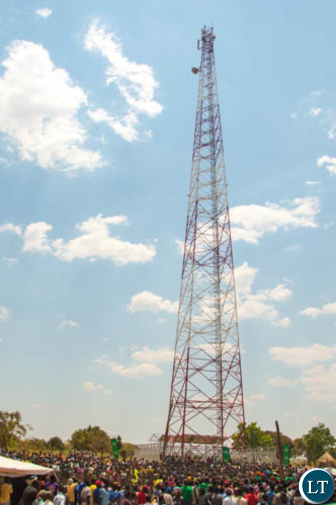 Thousands of Kakumbauzya villagers turned out to witness the launch of a new Zamtel tower in the area