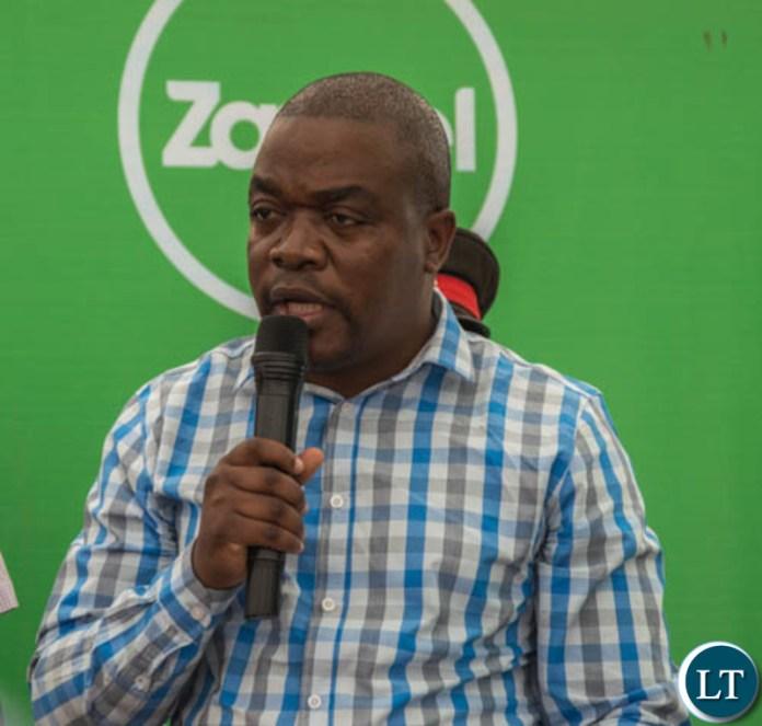 Transport and Communications Permanent Secretary Misheck Lungu speaking during the launch of a new Zamtel tower at Kakumbauzya in Petauke District
