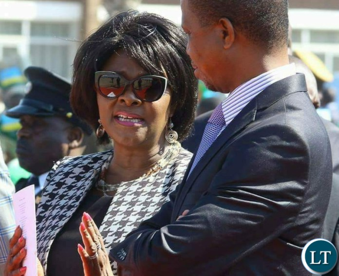Finance Minister Margaret Mwanakatwe with President Lungu