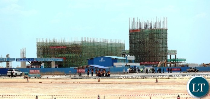 President Edgar Lungu Tour Ndola International airport Construction site Terminal Building