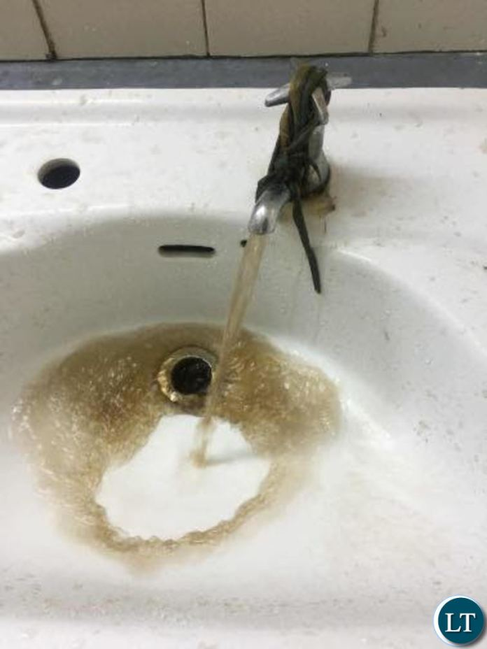 """The """"murky"""" looking water being supplied to CBU"""