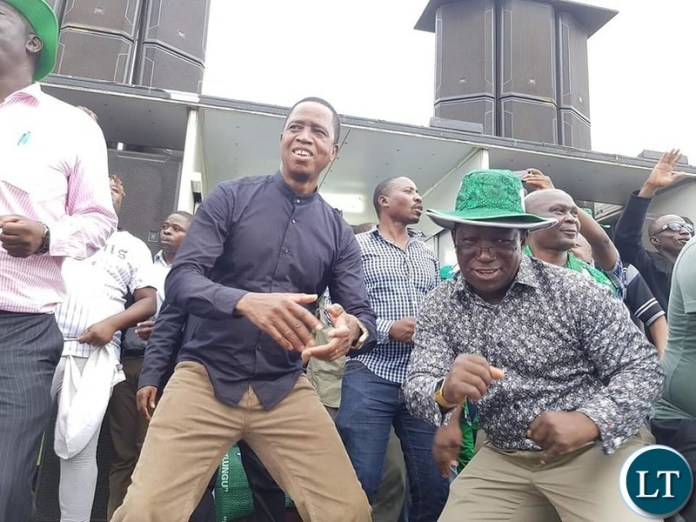 Lungu at the last campaign Rally in Shesheke