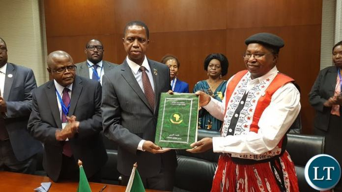 President Lungu at the Signing Ceremony of the Africa Free Trade Area