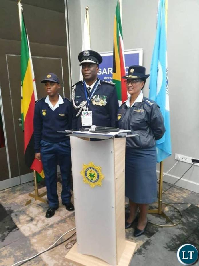 Southern African Region for Police Chiefs Cooperation (SARPCCO) Chairperson Kakoma Kanganja