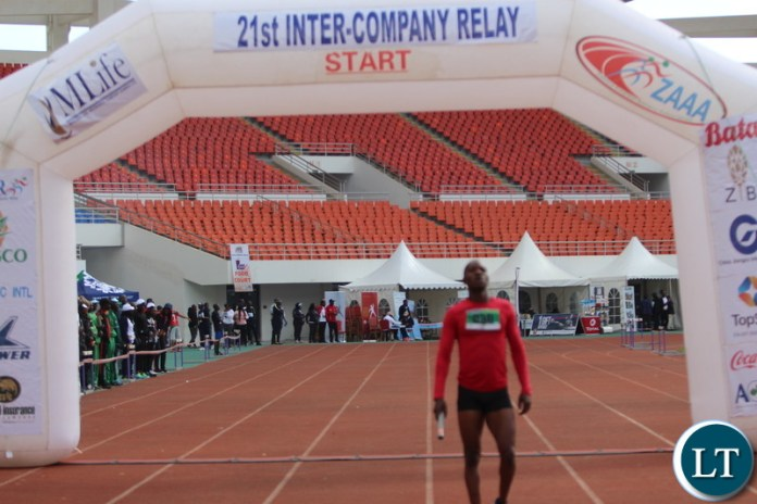 Team ZAF member crossing the line as the Team ZAF becomes the overall winner.