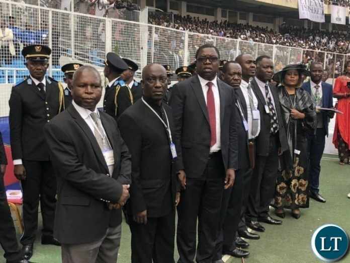 The Zambia Delegation that accompanied President Lungu to the Funeral