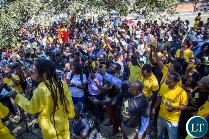 The Yellow Card Rally held yesterday in Lusaka