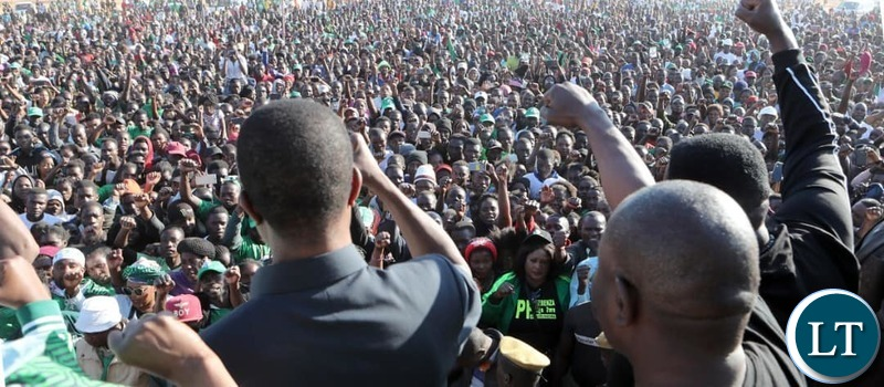 President Lungu's Rally at Shifwankula grounds in Chunga Ward of Katuba Constituency to drum up support for a PF Candidate